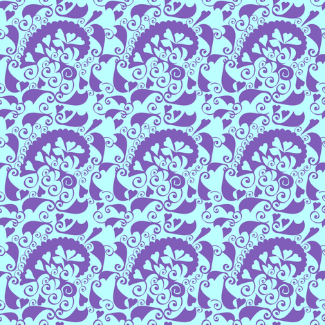 Blue vintage fabric by lilola on Spoonflower - custom fabric