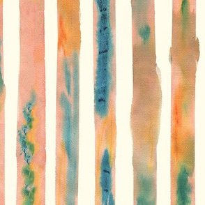 Watercolour Stripe