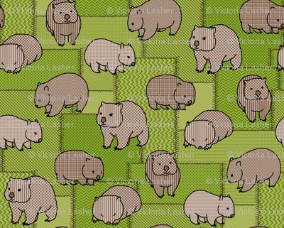 Wombat wisdom - faux patchwork