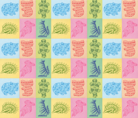 Zoo Babies Down Under fabric by katiame on Spoonflower - custom fabric