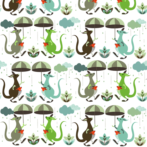 Singing in the rain fabric by theboutiquestudio on Spoonflower - custom fabric