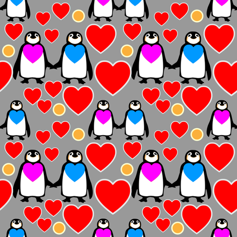Soul mates fabric by lilola on Spoonflower - custom fabric
