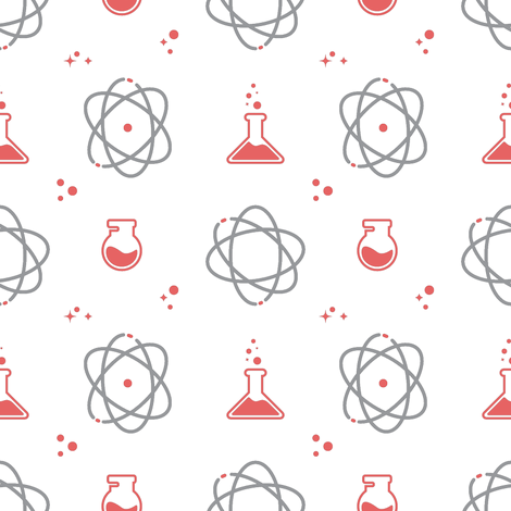 science_pink fabric by london_dewey on Spoonflower - custom fabric