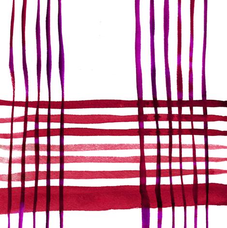 C'EST LA VIV Kitchen Plaid ~ Red Radish fabric by cest_la_viv on Spoonflower - custom fabric