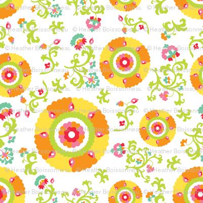 Oh Suzani Citrus Large- Scale Print