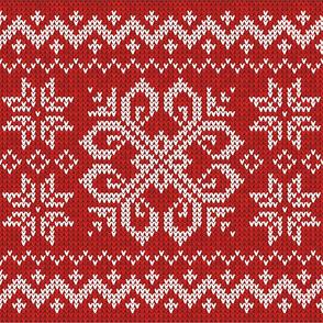 Norwegian Fair Isle Snowflake