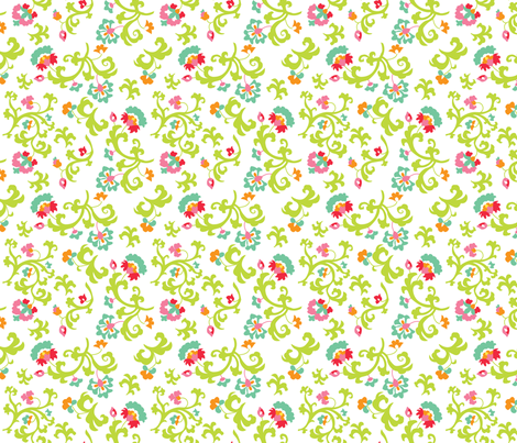 Oh Suzani Citrus Vines fabric by heather_b_design on Spoonflower - custom fabric