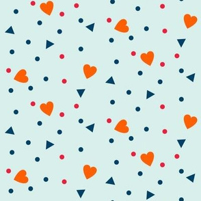 hearts triangles dots