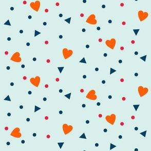 hearts triangles dots