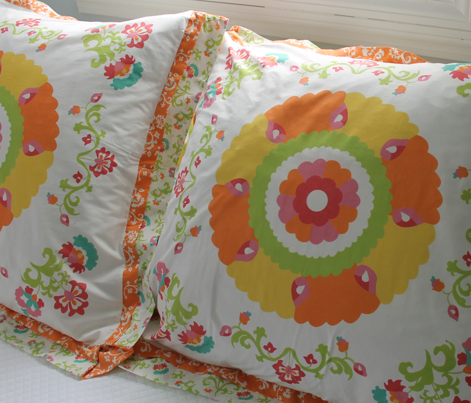 Oh Suzani Citrus Large Medallion