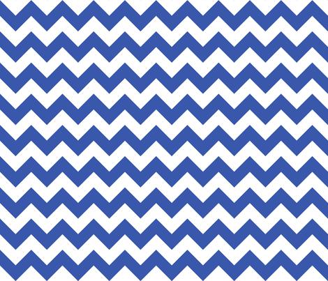 Zig Zag Chevron Blue fabric by littlerhodydesign on Spoonflower - custom fabric