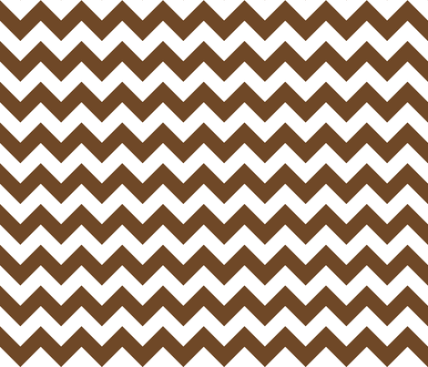 Zig Zag Chevron Chocolate fabric by littlerhodydesign on Spoonflower - custom fabric