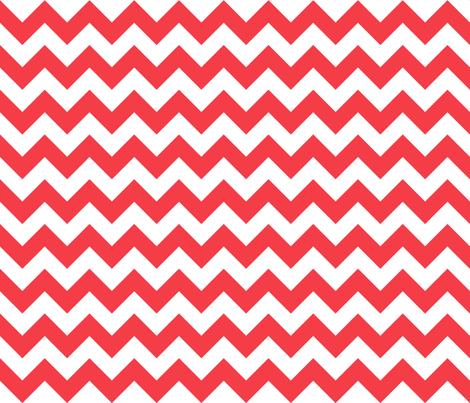 Zig Zag Chevron Red fabric by littlerhodydesign on Spoonflower - custom fabric