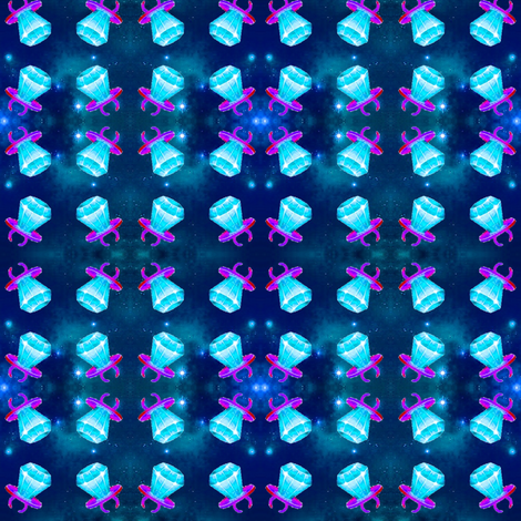 blue ring pop cosmic fabric by sewoeno on Spoonflower - custom fabric
