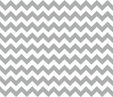 Zig Zag Chevron Silver fabric by littlerhodydesign on Spoonflower - custom fabric