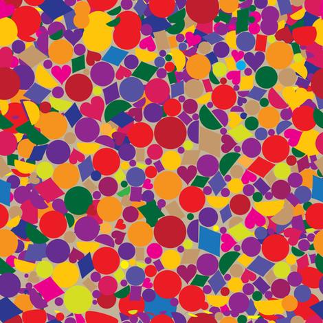 Confetti fabric by lilola on Spoonflower - custom fabric