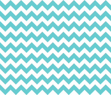 Zig Zag Teal fabric by littlerhodydesign on Spoonflower - custom fabric