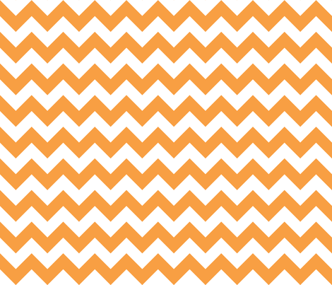 Zig Zag Tangerine fabric by littlerhodydesign on Spoonflower - custom fabric
