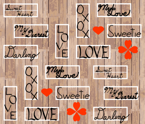 love_letter_yard_boards fabric by khowardquilts on Spoonflower - custom fabric