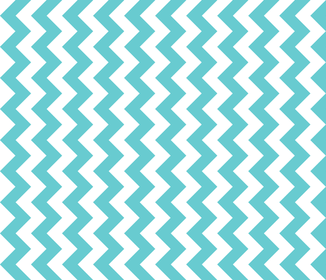 Chevron Railroaded Teal fabric by littlerhodydesign on Spoonflower - custom fabric