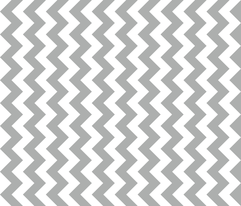 Chevron Railroaded Silver fabric by littlerhodydesign on Spoonflower - custom fabric
