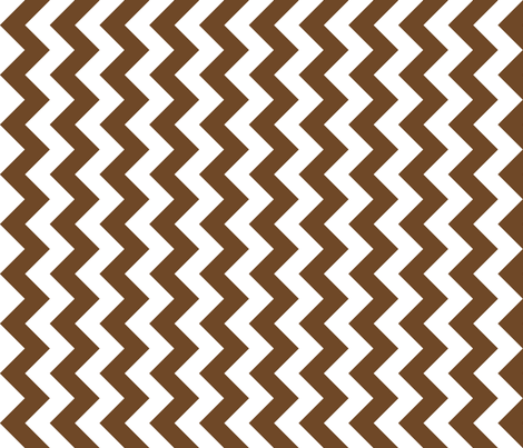 chevron Railroaded Chocolate fabric by littlerhodydesign on Spoonflower - custom fabric