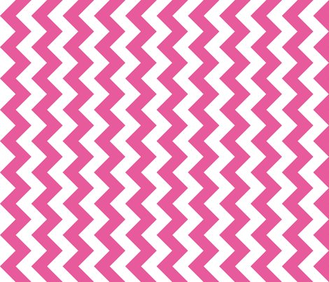 Chevron Railroaded Bubble Gum fabric by littlerhodydesign on Spoonflower - custom fabric