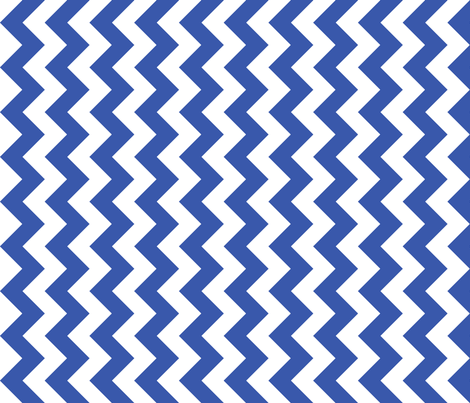 Chevron Railroaded Blue fabric by littlerhodydesign on Spoonflower - custom fabric