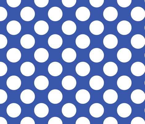 Polka Dot Blue fabric by littlerhodydesign on Spoonflower - custom fabric
