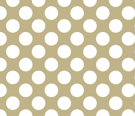 Polka Dot Khaki fabric by littlerhodydesign on Spoonflower - custom fabric