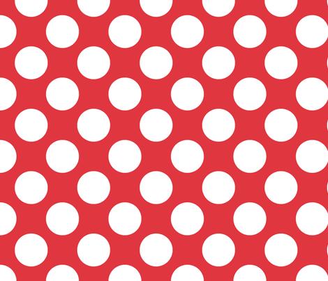 Polka Dot Red fabric by littlerhodydesign on Spoonflower - custom fabric