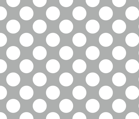 Polka Dot Silver fabric by littlerhodydesign on Spoonflower - custom fabric