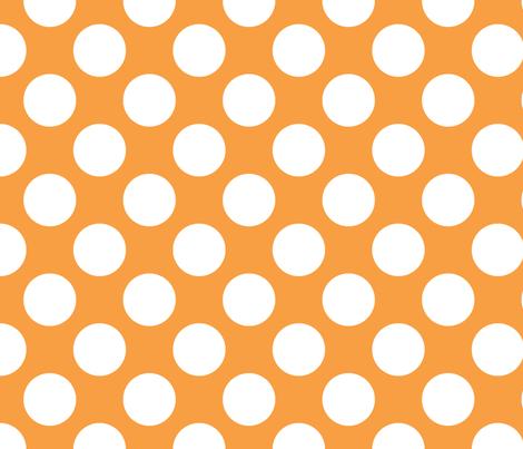 Polka Dot Tangerine fabric by littlerhodydesign on Spoonflower - custom fabric