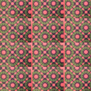Pink and Green Scene