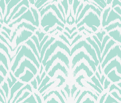 Wild Ikat in Mint fabric by ninaribena on Spoonflower - custom fabric