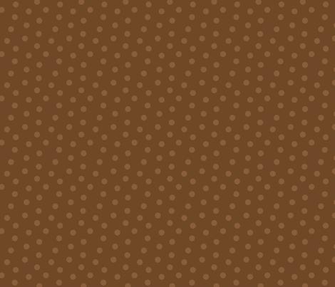 Tonal Mini Dot Chocolate fabric by littlerhodydesign on Spoonflower - custom fabric