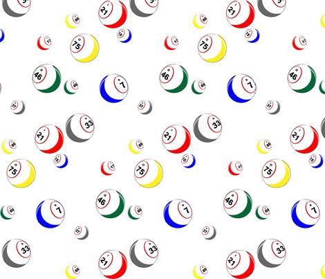 Bingo Balls fabric by dd_baz on Spoonflower - custom fabric