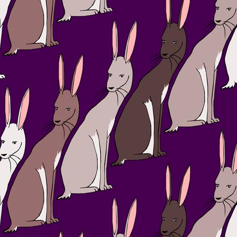 Rabbits fabric by pond_ripple on Spoonflower - custom fabric
