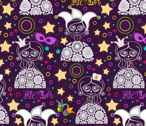 NOLA {Purple} fabric by natitys on Spoonflower - custom fabric