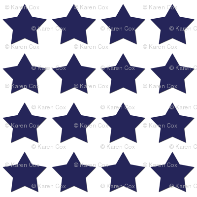 Navy and White stars