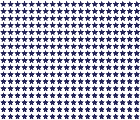Navy and White stars fabric by karenharveycox on Spoonflower - custom fabric