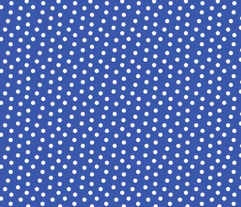 Mini Dot Blue fabric by littlerhodydesign on Spoonflower - custom fabric