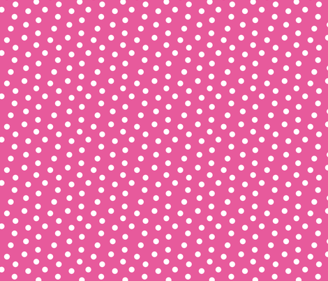 Mini Dot Bubble Gum fabric by littlerhodydesign on Spoonflower - custom fabric