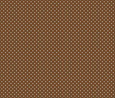 Pin Dot Chocolate fabric by littlerhodydesign on Spoonflower - custom fabric