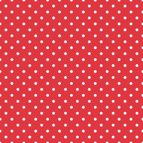 Pin Dot Red fabric by littlerhodydesign on Spoonflower - custom fabric