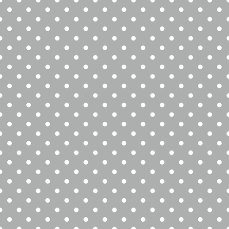 Pin Dot Silver fabric by littlerhodydesign on Spoonflower - custom fabric
