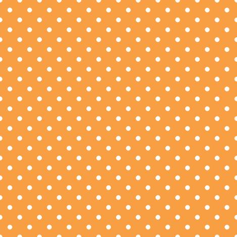 Pin Dot Tangerine fabric by littlerhodydesign on Spoonflower - custom fabric