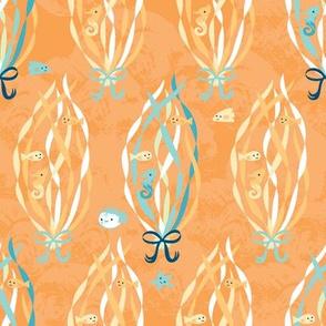 Under the Water - kelp orange
