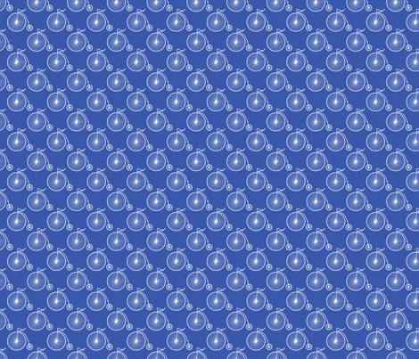Big Wheel Blue fabric by littlerhodydesign on Spoonflower - custom fabric