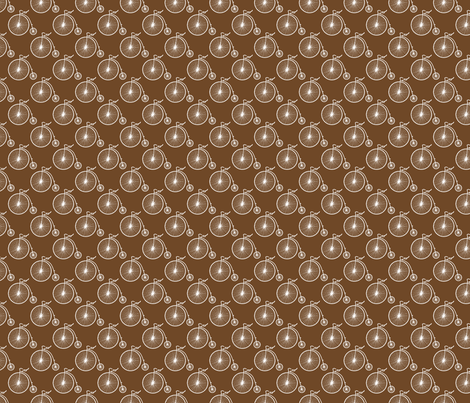 Big Wheel Chocolate fabric by littlerhodydesign on Spoonflower - custom fabric